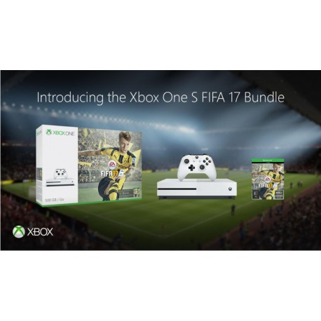 Microsoft Xbox One S 500GB + Fifa 17 + 2x Controller (DE, EN, FR, IT)