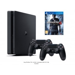 Sony PS4 Slim 1TB + 2x DS4 + Uncharted 4 (DE, FR, IT, EN)