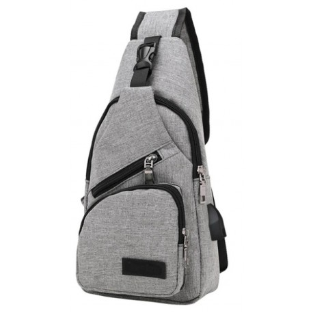 Männer Brusttasche aus Segeltuch Outdoor Multifunktionale Crossbody Tasche mit USB-Port