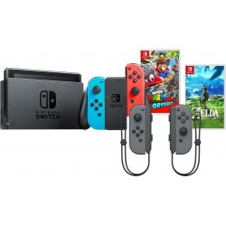 Nintendo Switch + Joy-Con Set + Zelda: BotW + Super Mario Odyssey (DE, FR, IT, EN)